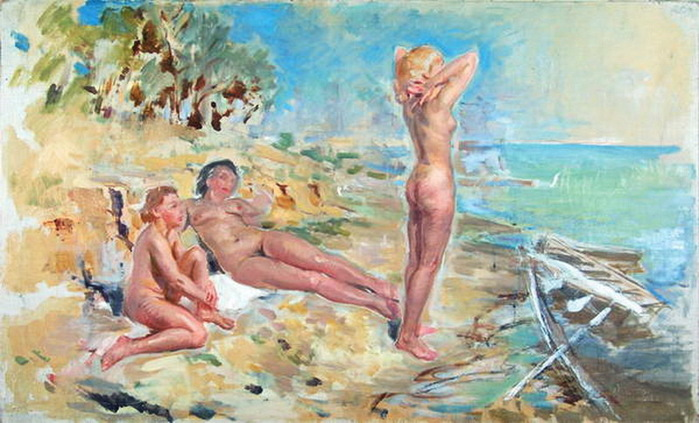 С.М. Луппов (1893-1977). Три грации. 1930-1940-е гг.