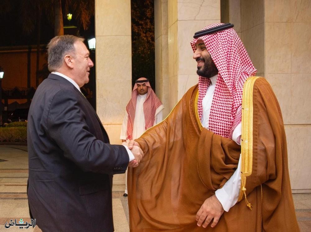 Наследный принц встретился с госсекретарём США, который выразли поддержку США безопасности и стабильности Королевства