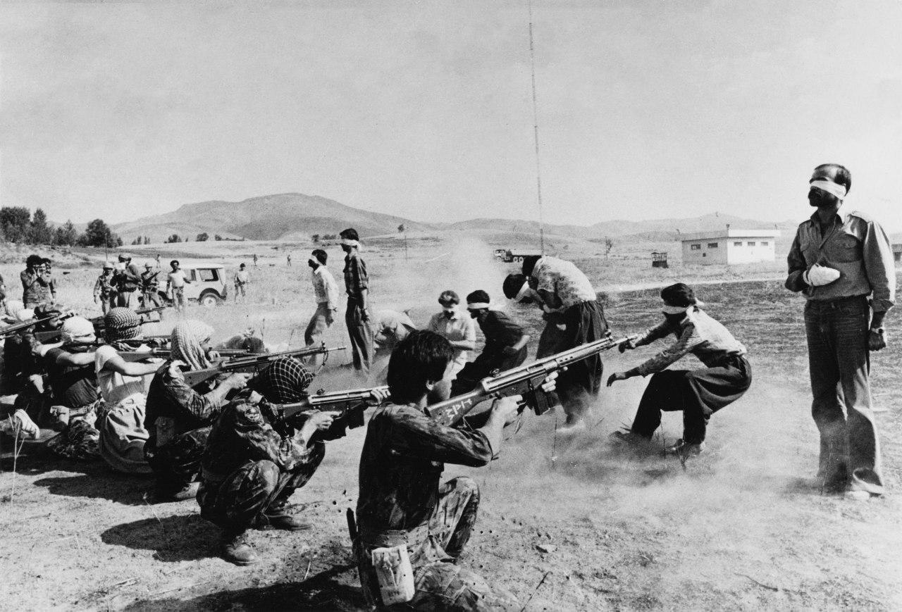 Расстрел курдских повстанцев в Иране. 1980г.