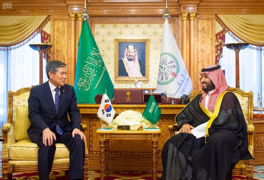Его Высочество наследный принц принял министра обороны Южной Кореи