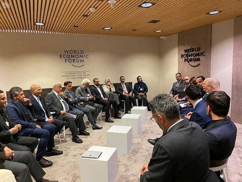 Министр иностранных дел КСА встретился с основателем и президентом Всемирного экономического форума в Давосе