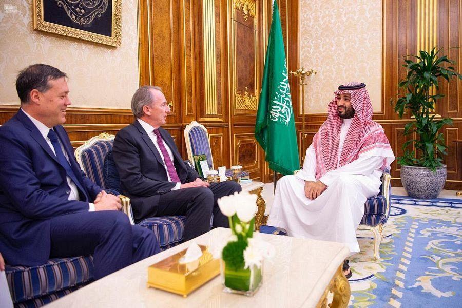 Его Высочество наследный принц КСА встретился с главным исполнительным директором Morgan Stanley