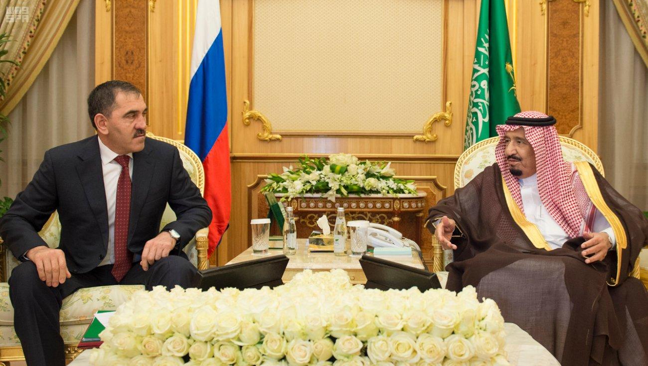 Служитель Двух Святынь принял президента республики Ингушетия и провёл с ним переговоры
