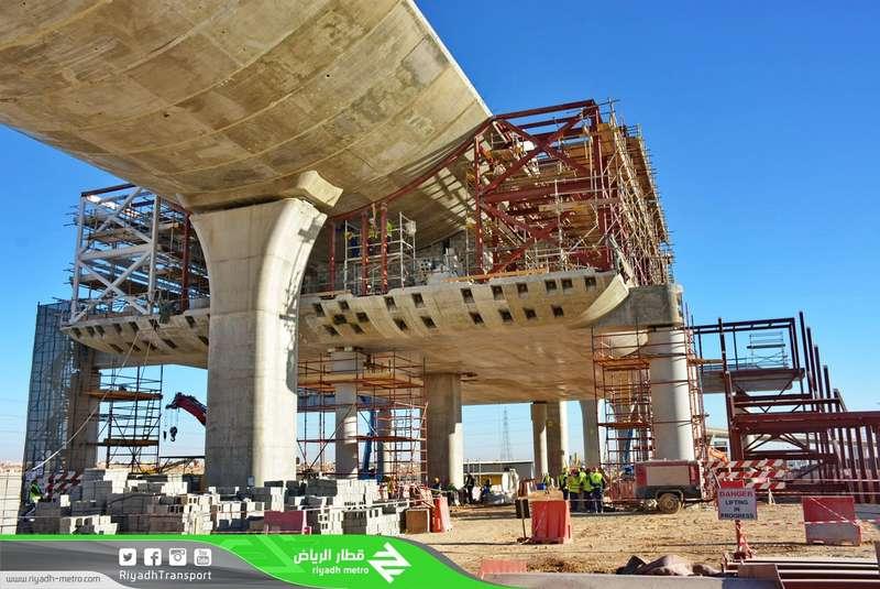 Метрополитен Эр-Рияда: в настоящий момент выполнено 45% работ и проложено 16 км путей на поверхности земли