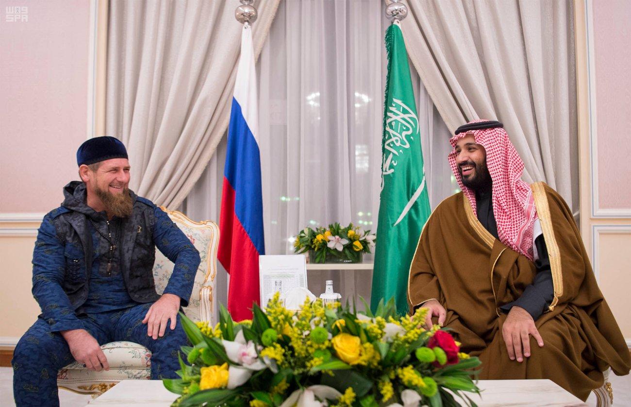 Его Королевское Высочество Мухаммад бин Салман принял Главу Чеченской республики в г.Дамаме