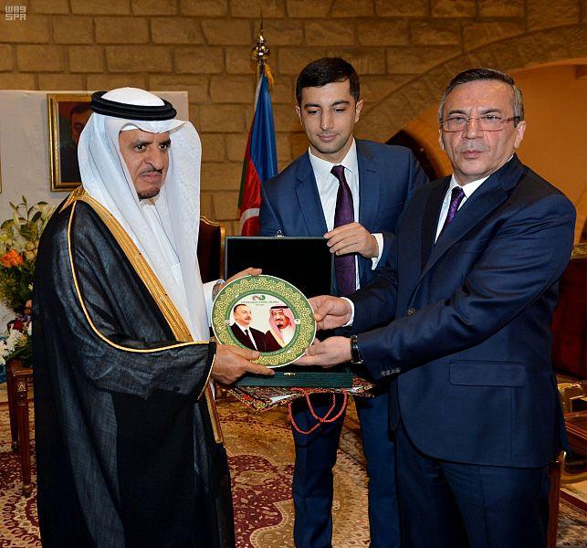 Глава администрации провинции Эр-Рияд присутствовал на церемонии в посольстве Азербайджана