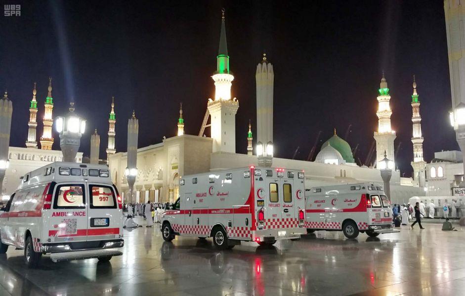 «Красный полумесяц» предоставил неотложную помощь в 351 случае в течении ночи завершения прочтения Благородного Корана в Мечети Пророка