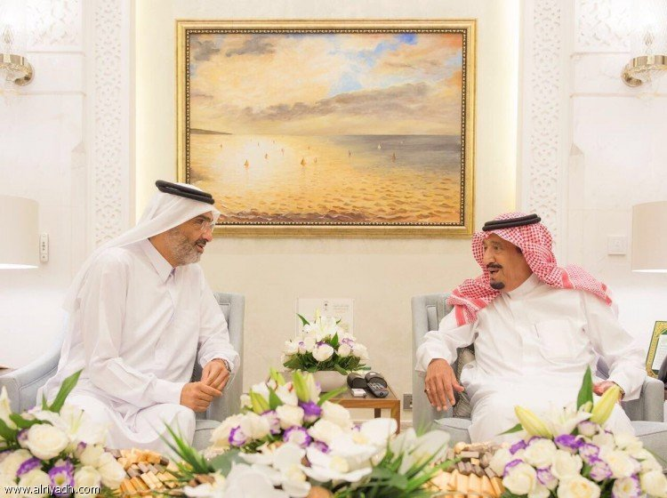 Служитель Двух Святынь принял Его Высочество Шейха Абдаллаха бин Али ас-Сани