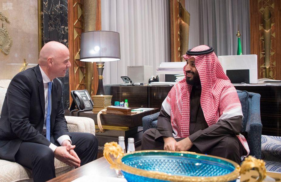 Его Высочество наследный принц принял  президента ФИФА
