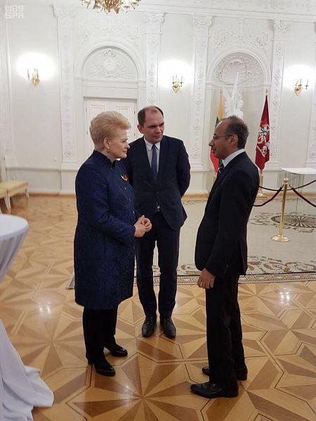 Посол Королевства в Дании и Литве присутствовал на официальном приёме у президента Литвы
