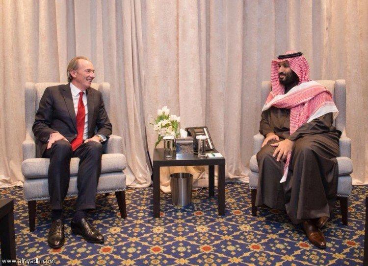 Наследный принц встретился с президентом банка Morgan Stanley и банка JPMorgan Chase