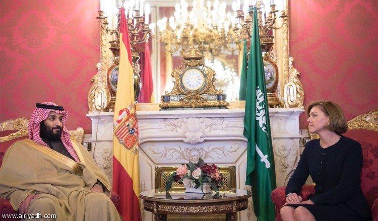 Наследный принц встретился с министром обороны Испании