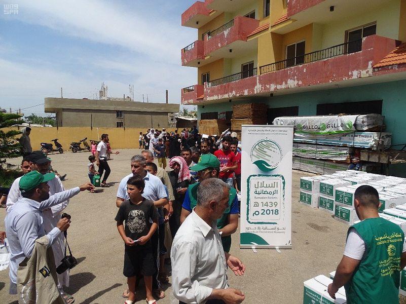 Центр им.Короля Салмана продолжает раздачу наборов для ифтара  сирийским беженцам в Ливане