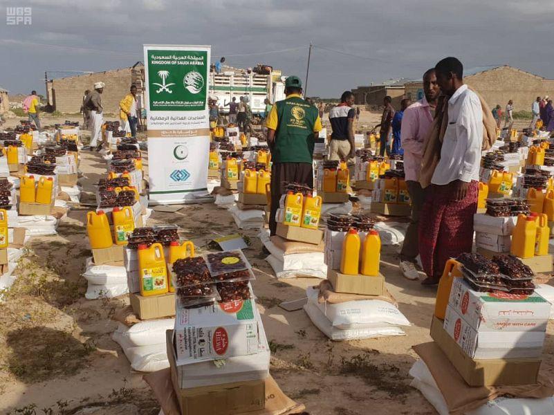 Центр  им.Короля Салмана  продолжает распрелеление  корзин гуманитарной помощи в Сомали