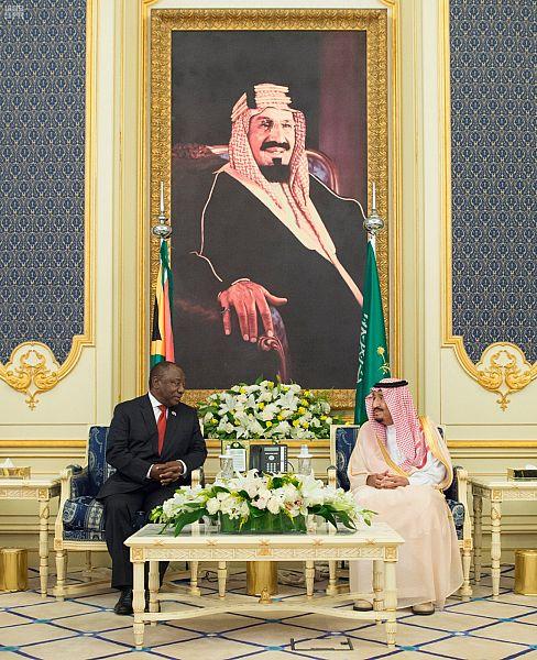 Служитель Двух Святынь принял президента ЮАР и дал торжественный обед в его честь