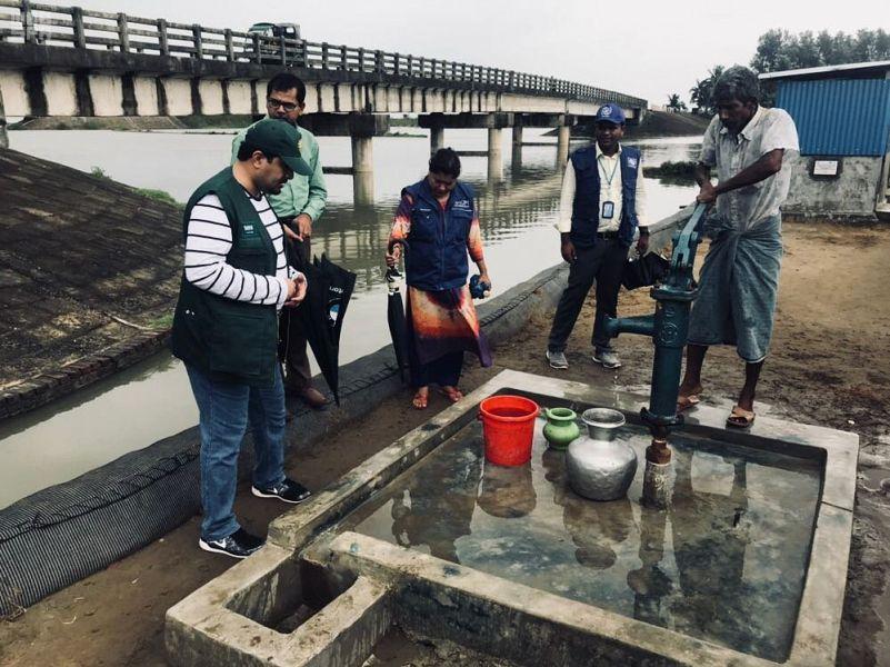 Бригада Центра  гуманитарной помощи им.Короля Салмана инспектирует гуманитарные проекты для беженцев рохинья в Бангладеш
