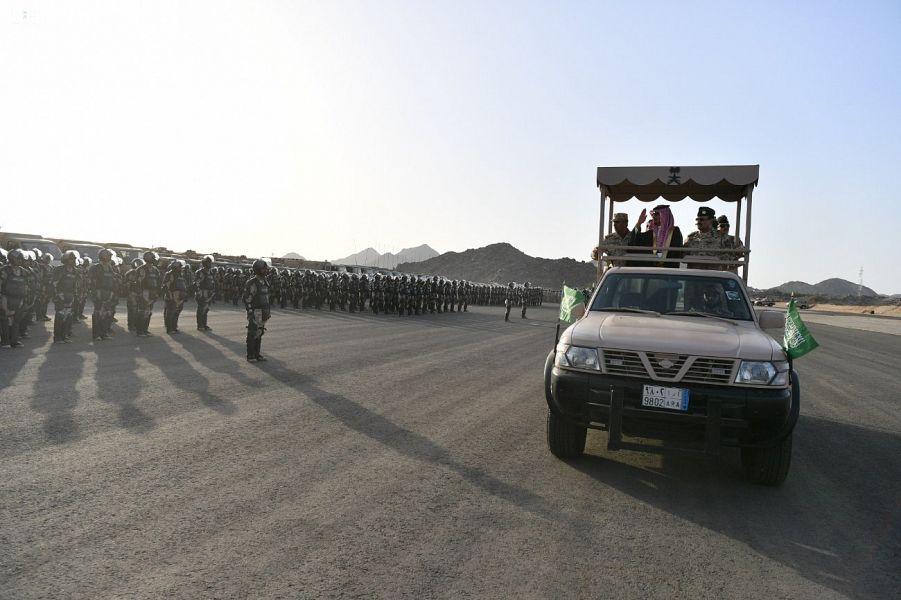 Министр Национальной гвардии посетил силы Национальной гвардии и их место дислокации в местах паломничества