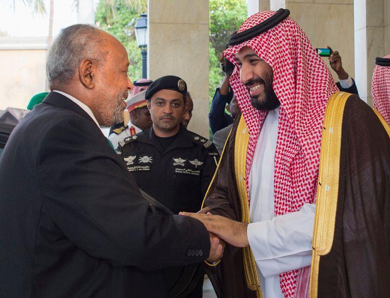 Его Высочество наследный принц встретился с президентом республики Джибути