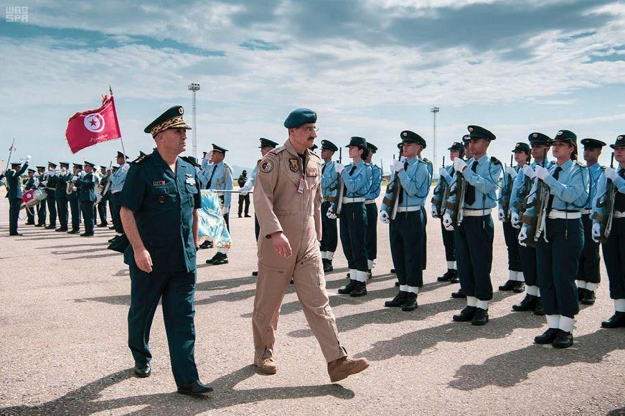 Его Высочество командующий Королевскими ВВС Саудии посетил церемонию завершения совместных саудийско-тунисских учений ВВС
