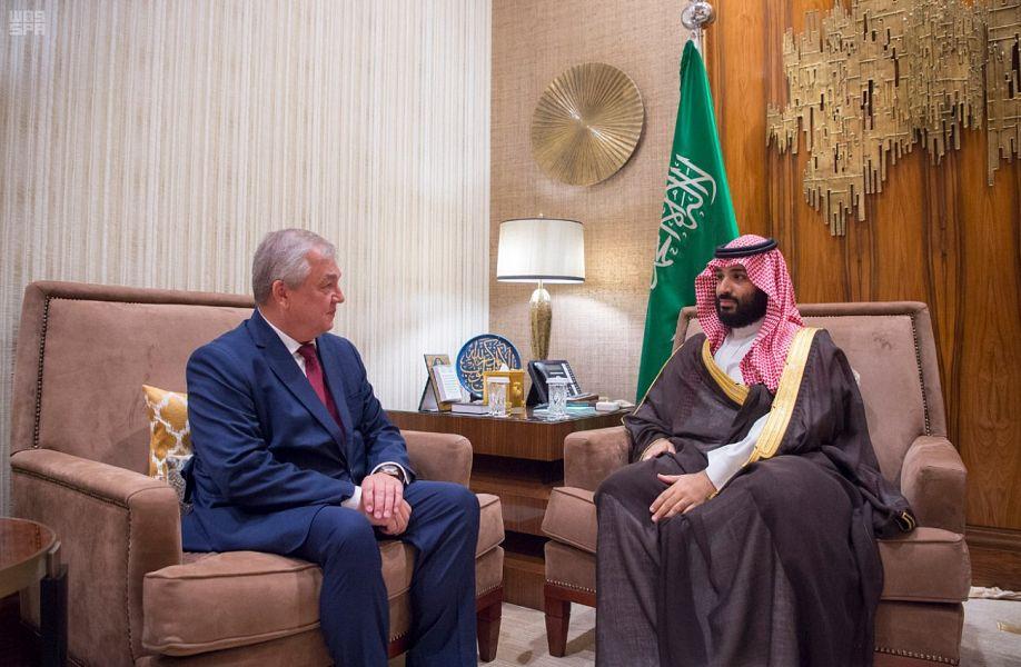 Его Высочество наследный принц встретился со специальным посланником президента России по сирийскому кризису