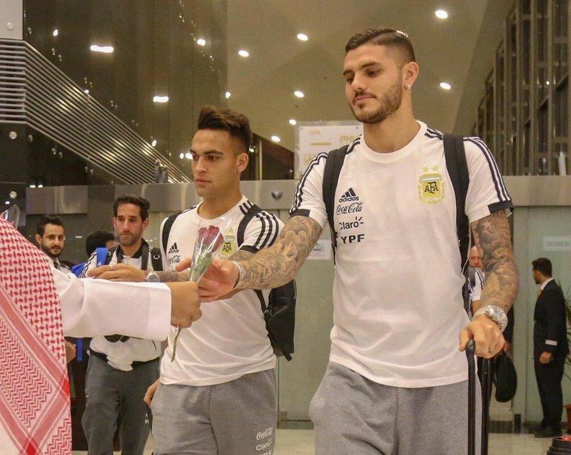 Сборная Аргентины прибыла в г.Джидда на матч со сборной Бразилии