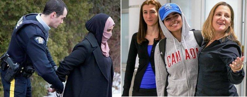 Разница между двумя фотографиями: одна из них саудийка, другая йеменка: канадские противоречия