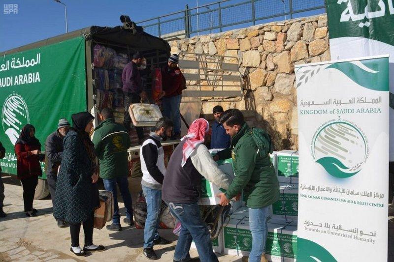 Центр гуманитарной помощи им.Короля Салмана продолжает распределение гуманитарной помощи в г.Арсале провинции  Бекаа в Ливане