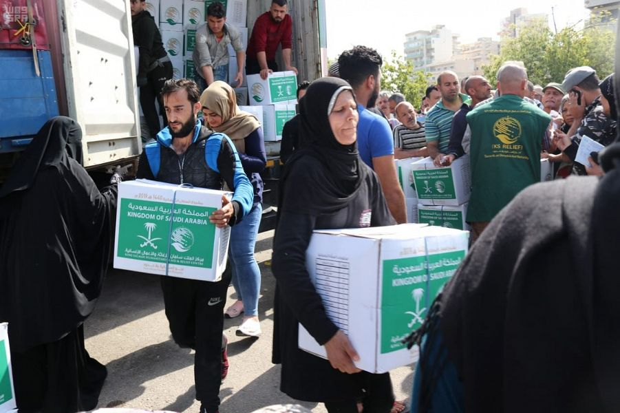 Центр  им.Короля Салмана  помогает  сирийским и палестинским беженцам в Ливане и Иордании