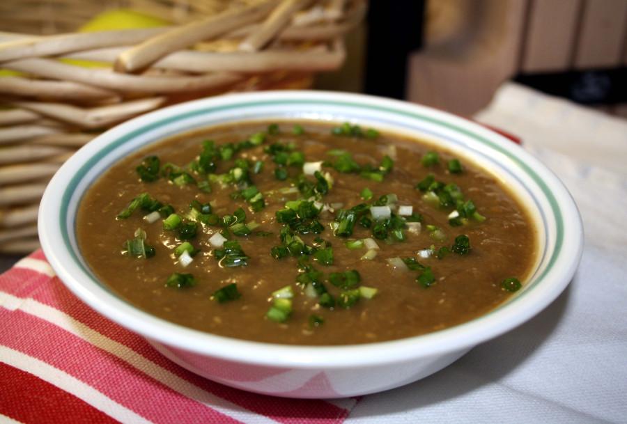 Зимний суп с чечевицей