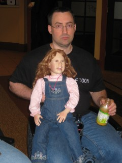 Jim and Creepy Doll