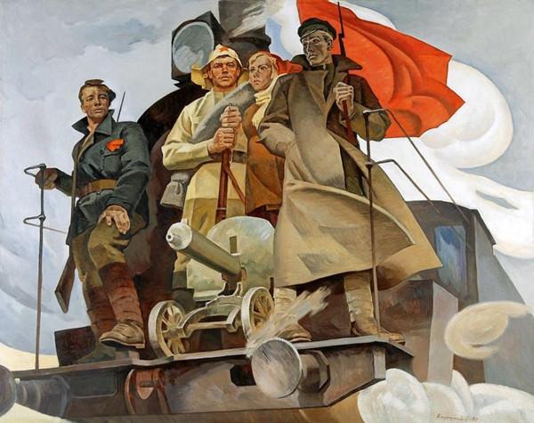 картина_Барышников_Наш паровоз_революция_1972