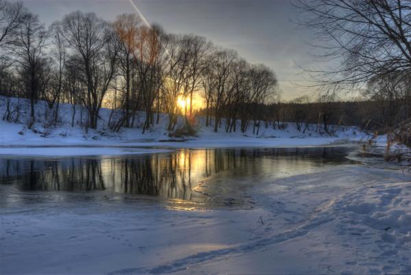 картинка_берег_реки_зима