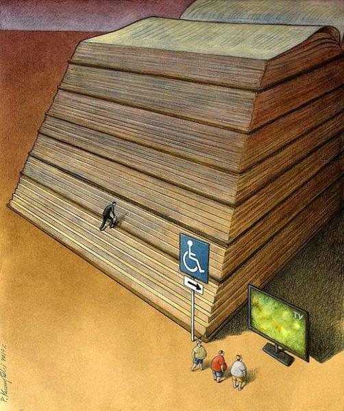 карикатура_книга_телевизор