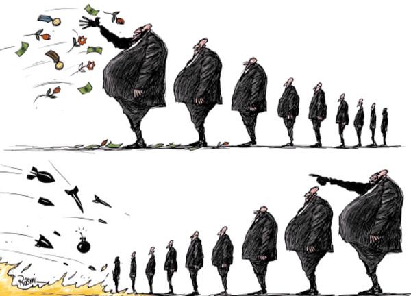 карикатура_иерархия_в_действии