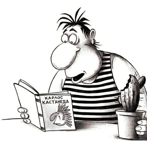 карикатура_книга_кактус