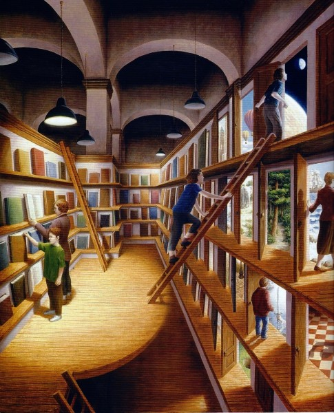 книги_двери