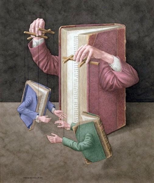 картинка_марионетки_книги