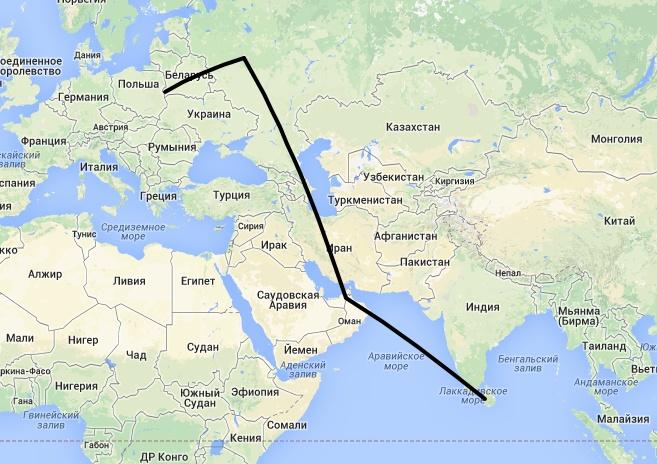 Карта перелёта