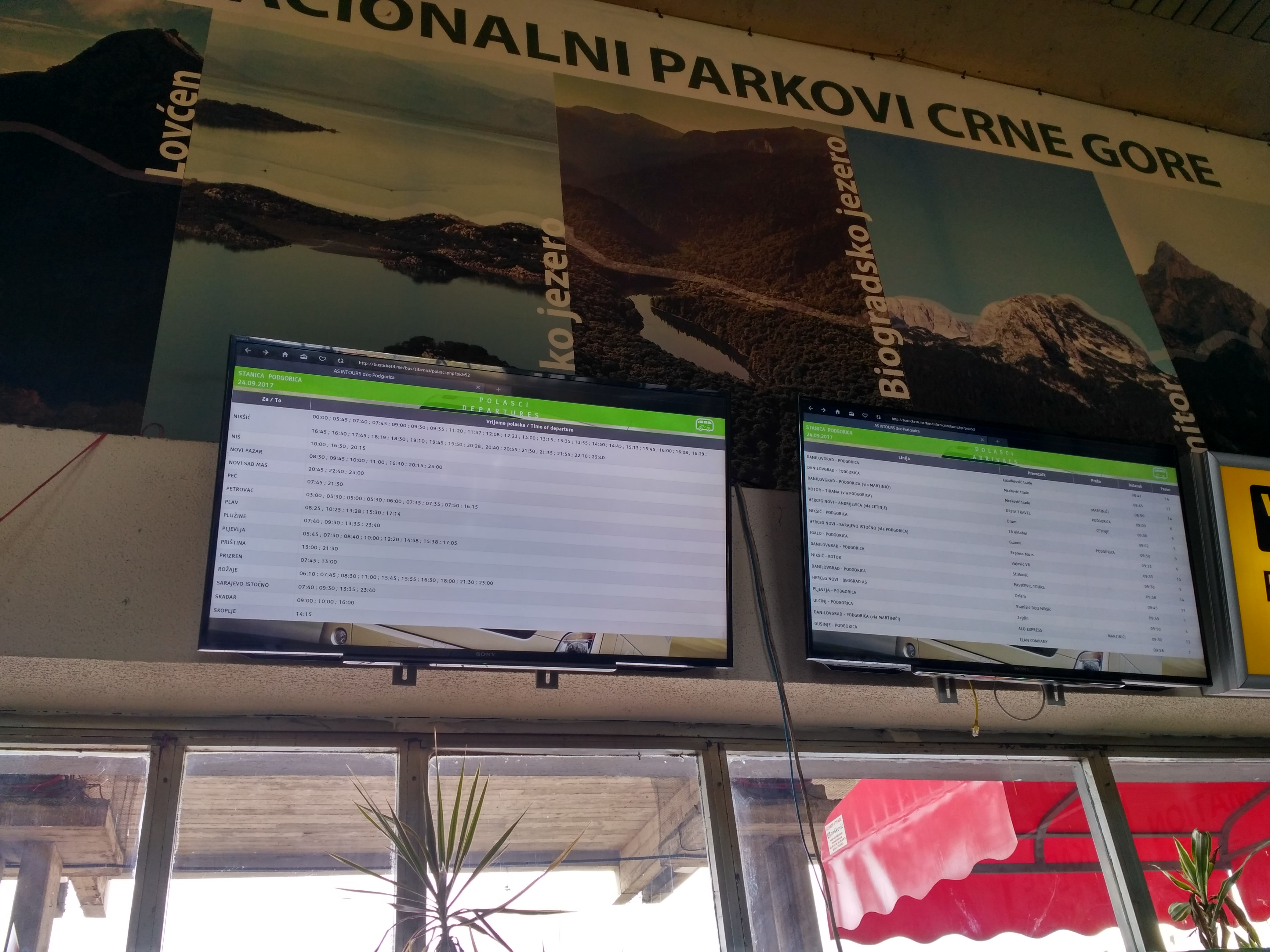 Расписание автобусов автостанции Подгорицы