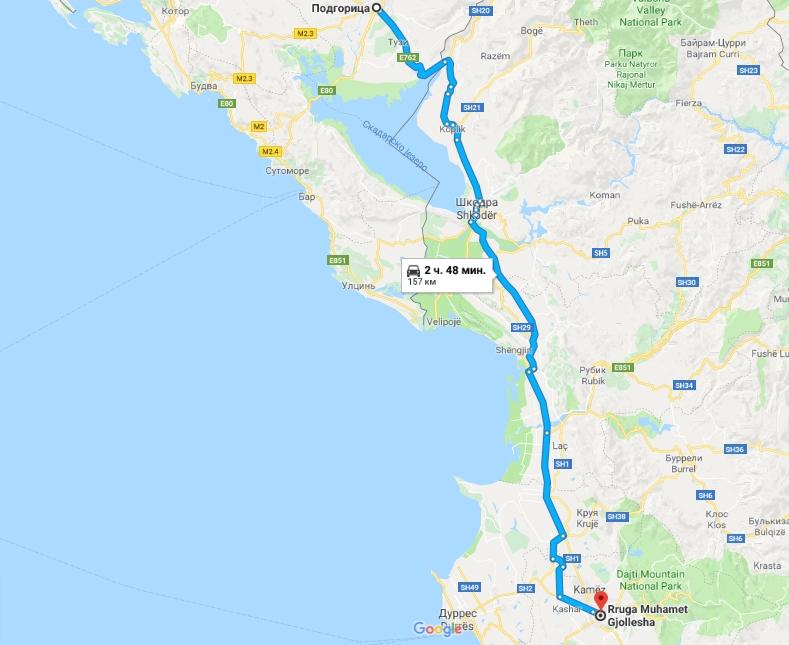 Самостоятельное путешествие по Албании