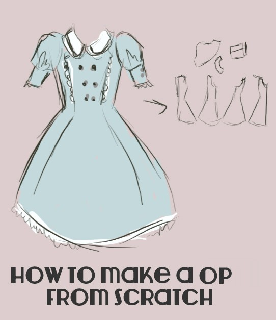 Making a OP from scratch (Part I: Drafting the pattern) - Lolita ...