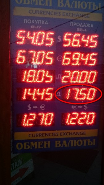 курсы валют 22 12 2014 злотый