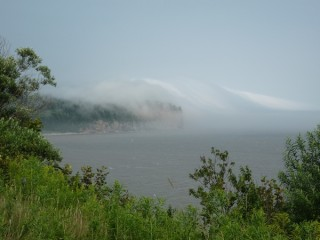 Mists off Bay of Fundy