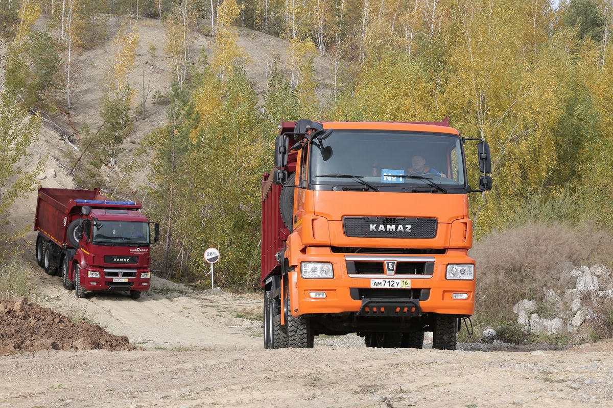 Тест-драйв новых «КАМАЗов» в Казани