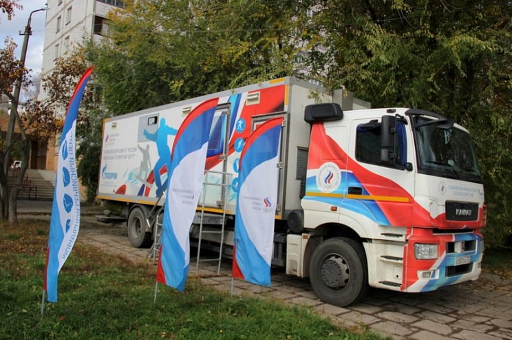 Специальный КАМАЗ для юных российских лыжников