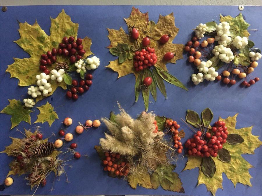Камазовцы показали тыкву из гофротрубы и картины из листьев