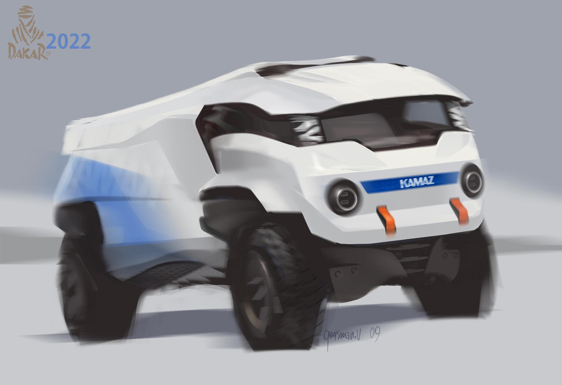 КАМАЗы будущего от художника Вадима Гусманова