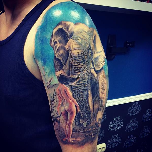 Оригинальная татуировка от челнинского тату-мастера