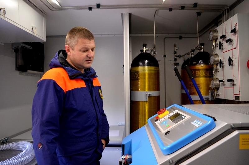 Спасатели получили мобильный водолазный комплекс на шасси КАМАЗ