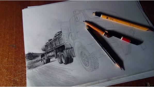 Как рисовать КАМАЗ